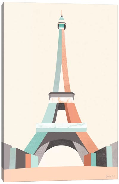 Graphic Pastel Architecture II Canvas Art Print