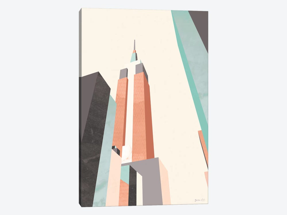 Graphic Pastel Architecture III by Green Lili 1-piece Art Print