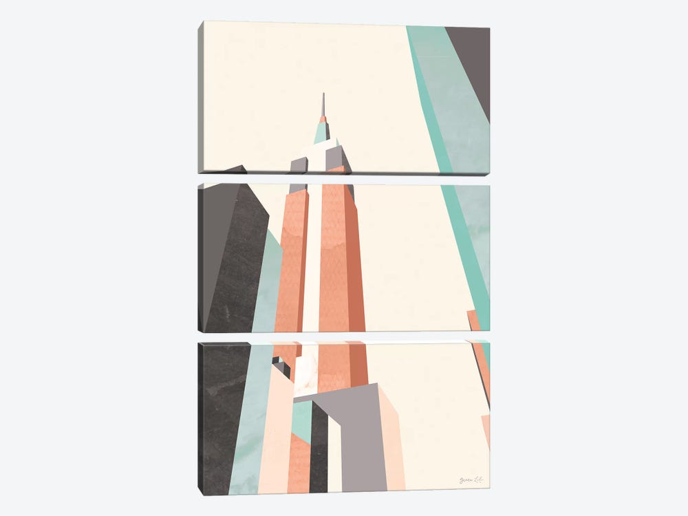Graphic Pastel Architecture III by Green Lili 3-piece Art Print
