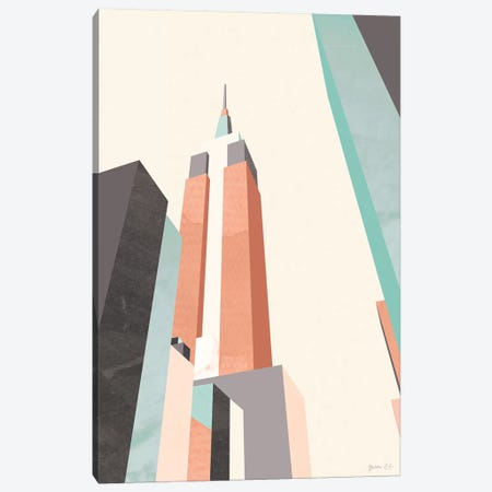 Graphic Pastel Architecture III Canvas Print #GLI29} by Green Lili Canvas Artwork