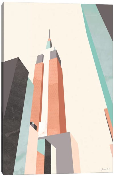 Graphic Pastel Architecture III Canvas Art Print