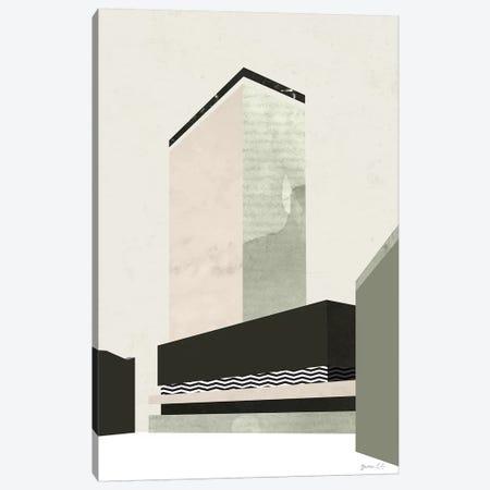 Outside In V Canvas Print #GLI37} by Green Lili Canvas Wall Art
