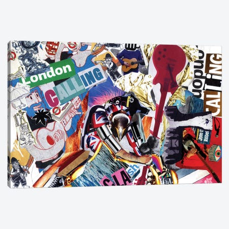 Clash 3-Piece Canvas #GLL10} by Glil Canvas Artwork