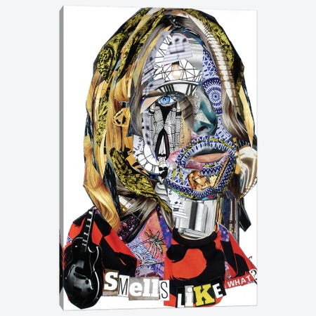 Cobain II Canvas Print #GLL11} by Glil Canvas Artwork
