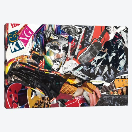 Elvis Canvas Print #GLL16} by Glil Canvas Print