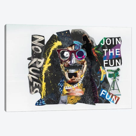 Frank Zappa Canvas Print #GLL17} by Glil Canvas Print