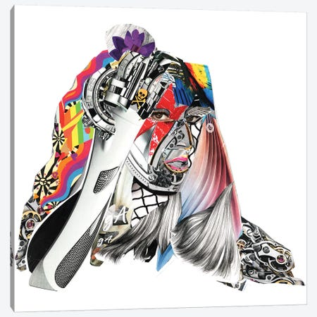 Gaga Canvas Print #GLL20} by Glil Art Print