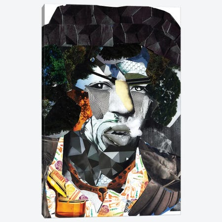 Hendrix II Canvas Print #GLL23} by Glil Art Print