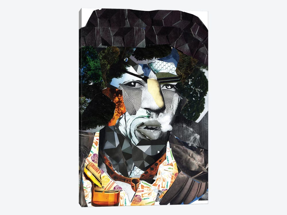 Hendrix II by GLIL 1-piece Canvas Print