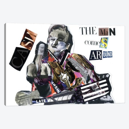 J Cash Canvas Print #GLL26} by Glil Canvas Art