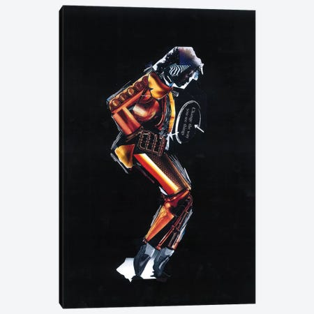 Michael Jackson I Canvas Print #GLL38} by Glil Canvas Wall Art