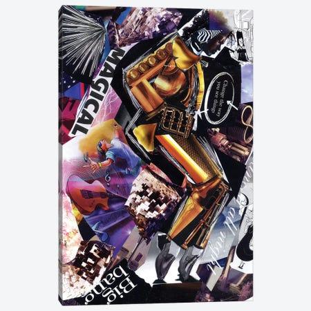 Michael Jackson II Canvas Print #GLL39} by Glil Canvas Art