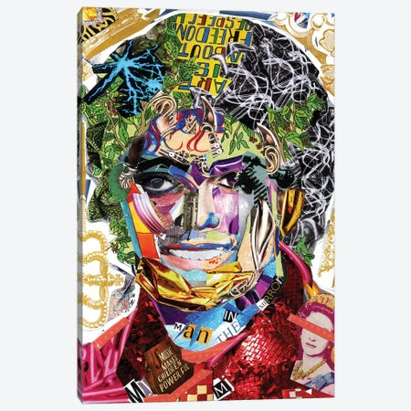 Michael Jackson III Canvas Print #GLL40} by GLIL Canvas Print