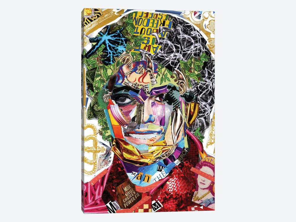 Michael Jackson III by GLIL 1-piece Canvas Wall Art