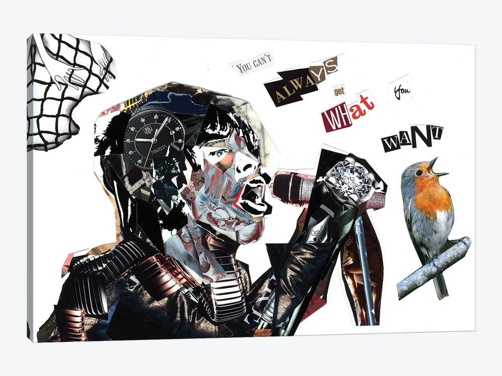 Mick Jagger by GLIL 1-piece Canvas Art Print