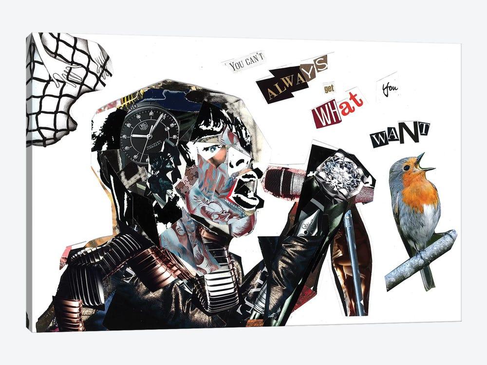 Mick Jagger by Glil 1-piece Canvas Art Print