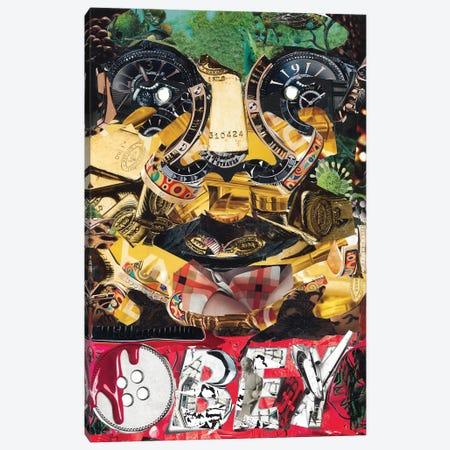 Obey Canvas Print #GLL44} by Glil Canvas Wall Art