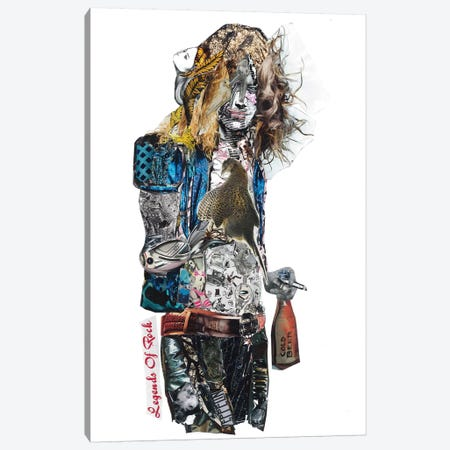 Robert Plant Canvas Print #GLL49} by Glil Canvas Print