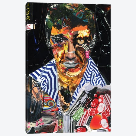 Scarface Canvas Print #GLL50} by Glil Canvas Art
