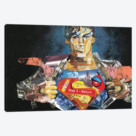 Superman I Canvas Print #GLL55} by Glil Art Print