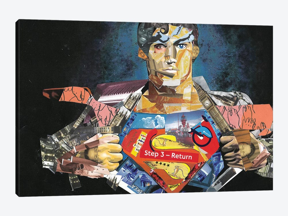 Superman I by Glil 1-piece Canvas Art