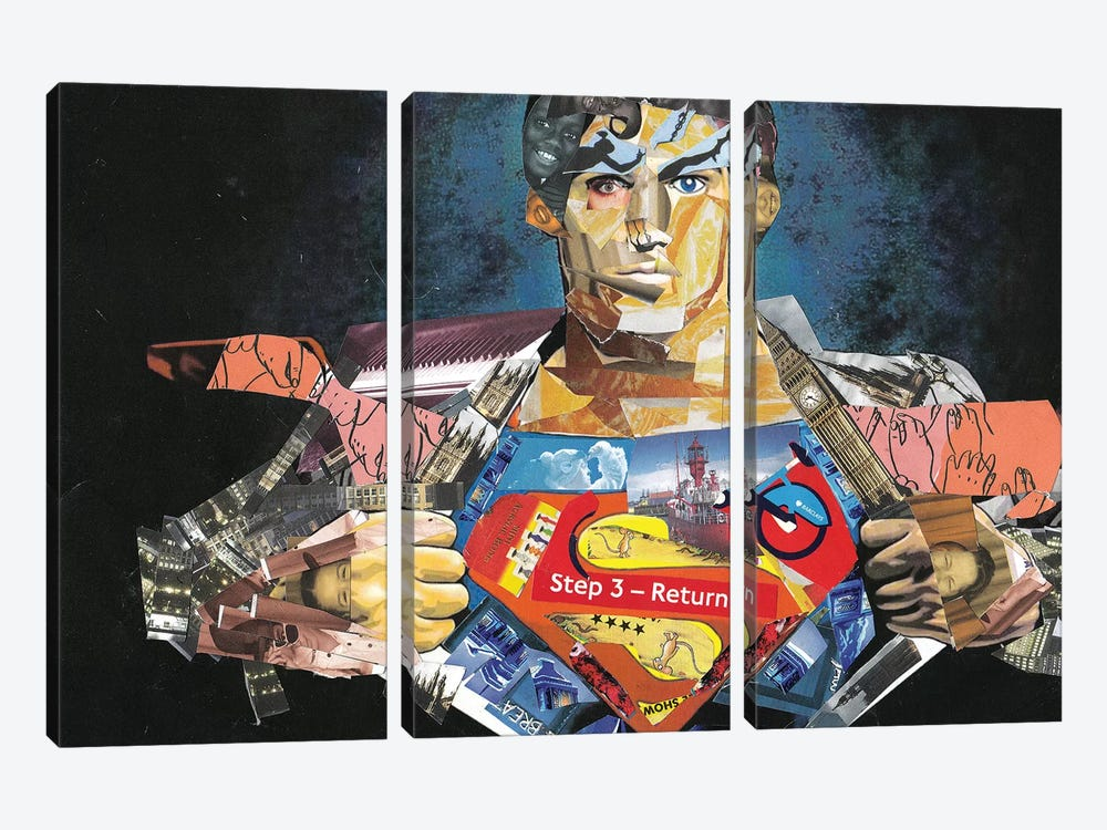 Superman I by Glil 3-piece Canvas Art