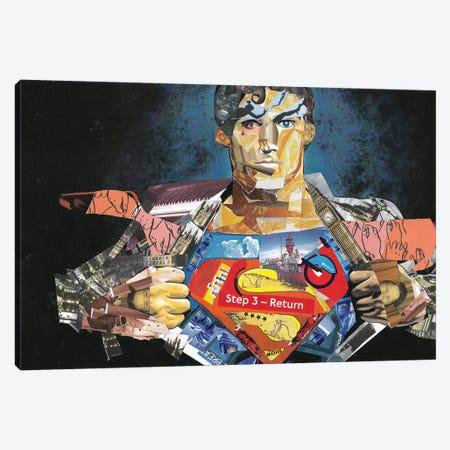 Superman I Canvas Print #GLL55} by Glil Art Print