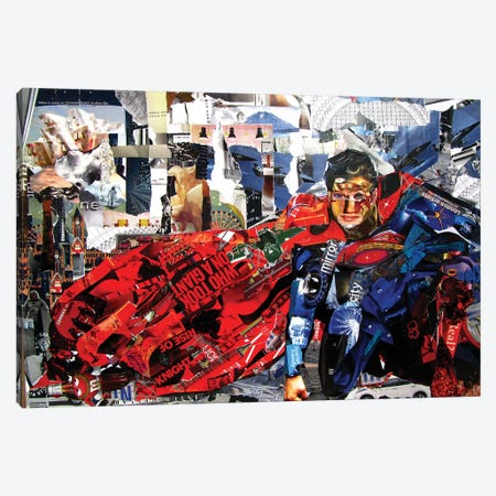 Superman II 3-Piece Canvas #GLL56} by Glil Canvas Print