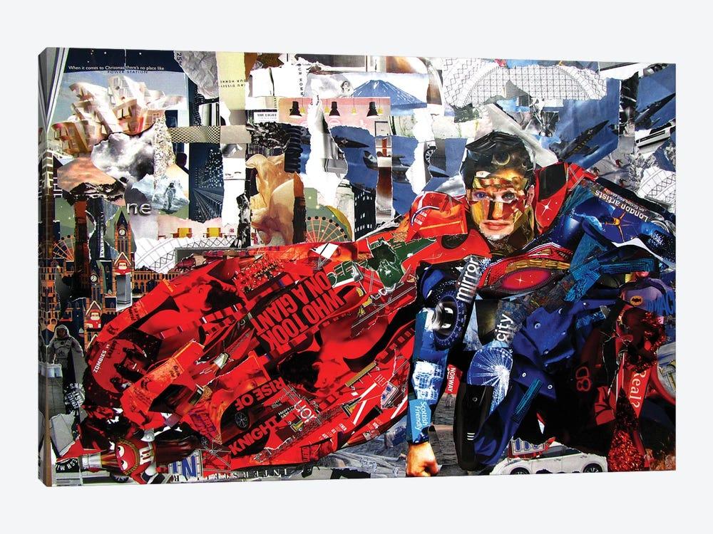 Superman II by Glil 1-piece Canvas Art Print