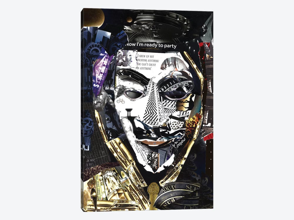 Anonymous by Glil 1-piece Canvas Artwork