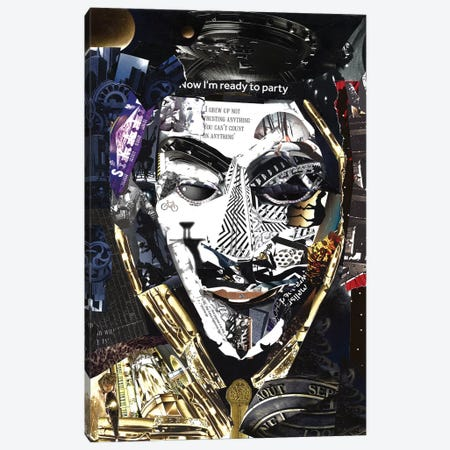 Anonymous 3-Piece Canvas #GLL5} by Glil Art Print