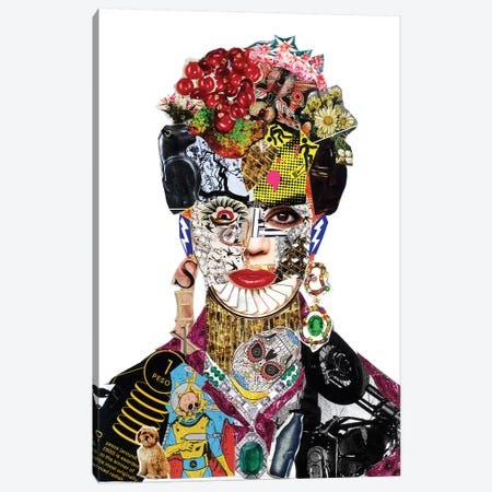 Frida Kahlo Canvas Print #GLL63} by Glil Canvas Print
