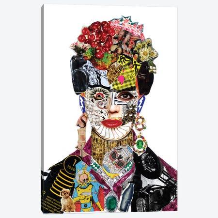 Frida Kahlo Canvas Print #GLL63} by Glil Canvas Print
