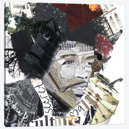 Jimi Hendrix Canvas Print #GLL64} by Glil Canvas Wall Art