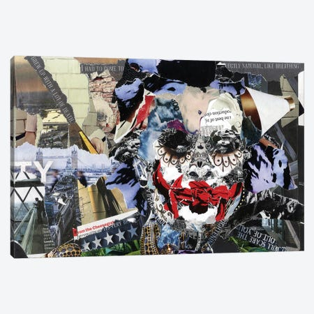 Joker II Canvas Print #GLL65} by Glil Canvas Wall Art
