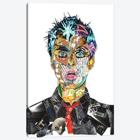 Billie Joe Armstrong Canvas Print #GLL8} by Glil Canvas Artwork