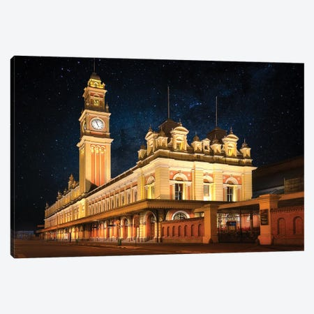 Luz Train Station - Sao Paulo, Brazil 3-Piece Canvas #GLM103} by Glauco Meneghelli Canvas Artwork