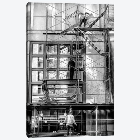 Men At Work - New York, Brazil Canvas Print #GLM106} by Glauco Meneghelli Canvas Print