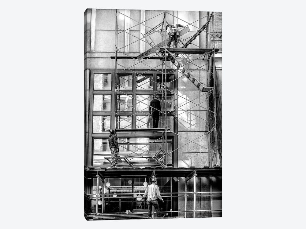 Men At Work - New York, Brazil by Glauco Meneghelli 1-piece Canvas Wall Art