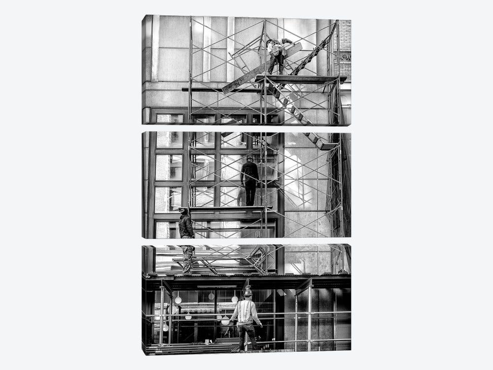 Men At Work - New York, Brazil by Glauco Meneghelli 3-piece Canvas Art
