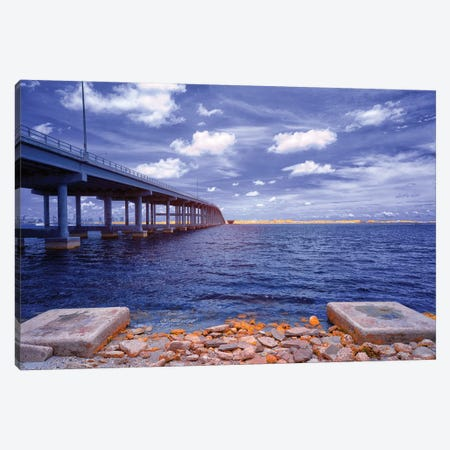 Blue View - Miami, Florida Canvas Print #GLM17} by Glauco Meneghelli Canvas Wall Art