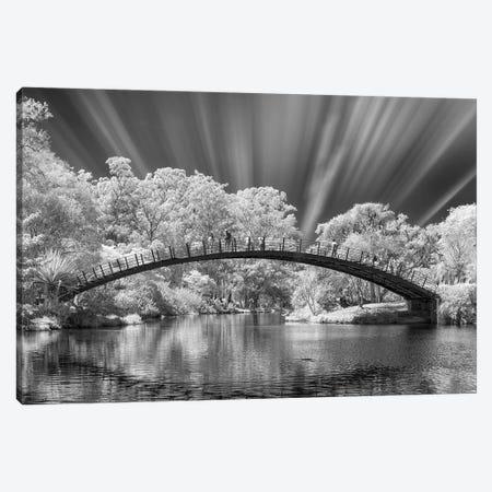 Bridge Black & White  - Sao Paulo, Brazil 3-Piece Canvas #GLM19} by Glauco Meneghelli Canvas Print