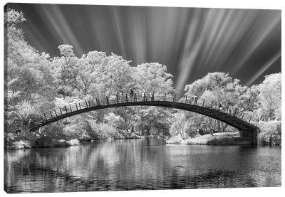 Bridge Black & White  - Sao Paulo, Brazil Canvas Art Print