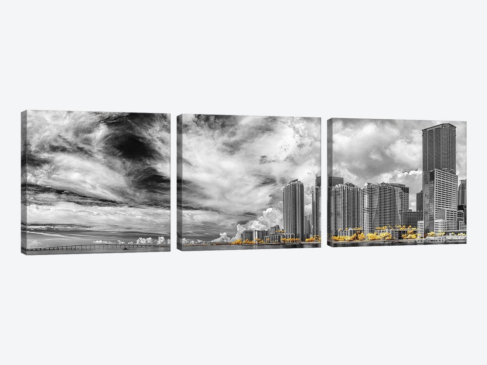 Miami Infrared V by Glauco Meneghelli 3-piece Canvas Art