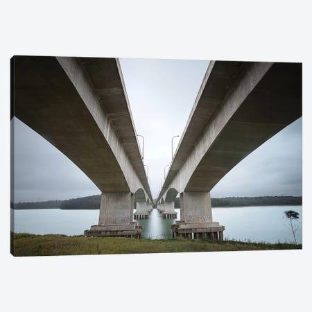 Over The Bridge Canvas Print #GLM457} by Glauco Meneghelli Canvas Art Print