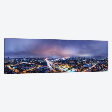 Night Cityscape Pano Canvas Print #GLM463} by Glauco Meneghelli Canvas Art Print