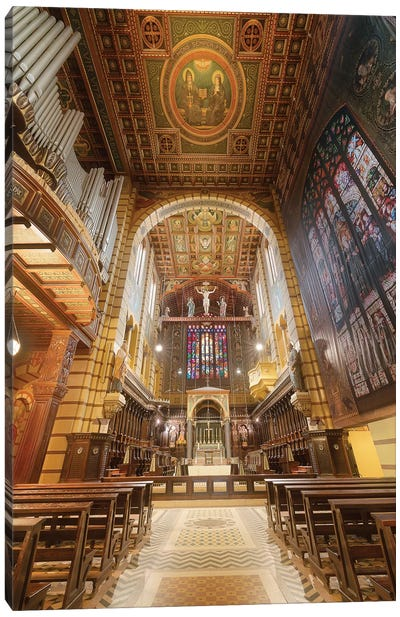 Inteinterior Of The Cathedral III Canvas Art Print