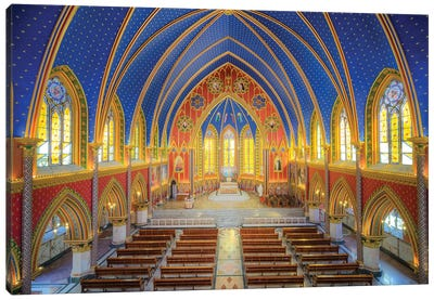 Interior Of The Cathedral I Canvas Art Print