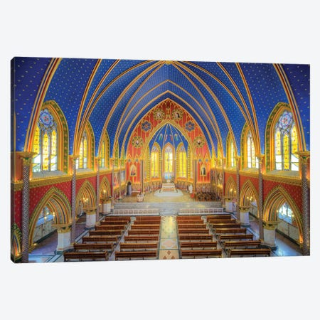 Interior Of The Cathedral I Canvas Print #GLM469} by Glauco Meneghelli Canvas Art Print