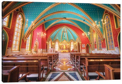 Interior Of The Cathedral II Canvas Art Print